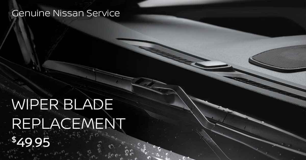 Nissan Wiper Blade Replacement Service Special Coupon