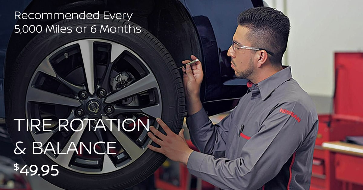Nissan Tire Rotation & Balance Service Special Coupon