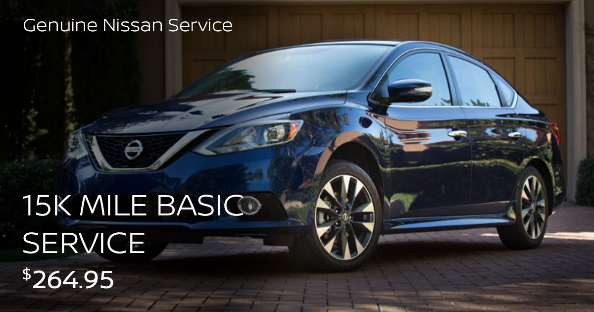 Nissan 15k Mile Basic Service Special Coupon