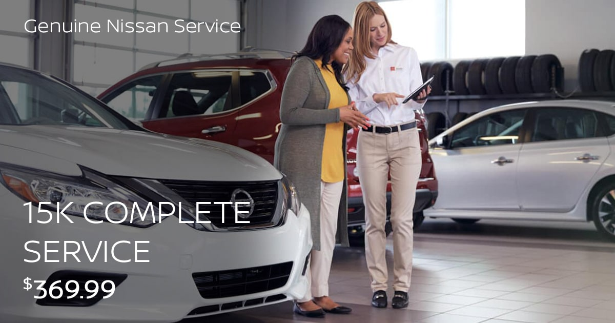 Nissan 15K Mile Complete Service Special Coupon