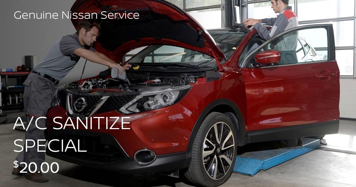 Nissan A/C Sanitize Service Special Coupon