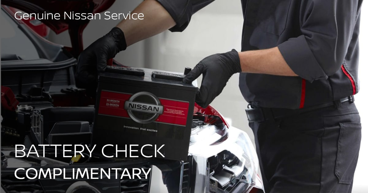 Nissan Battery Check Service Special Coupon