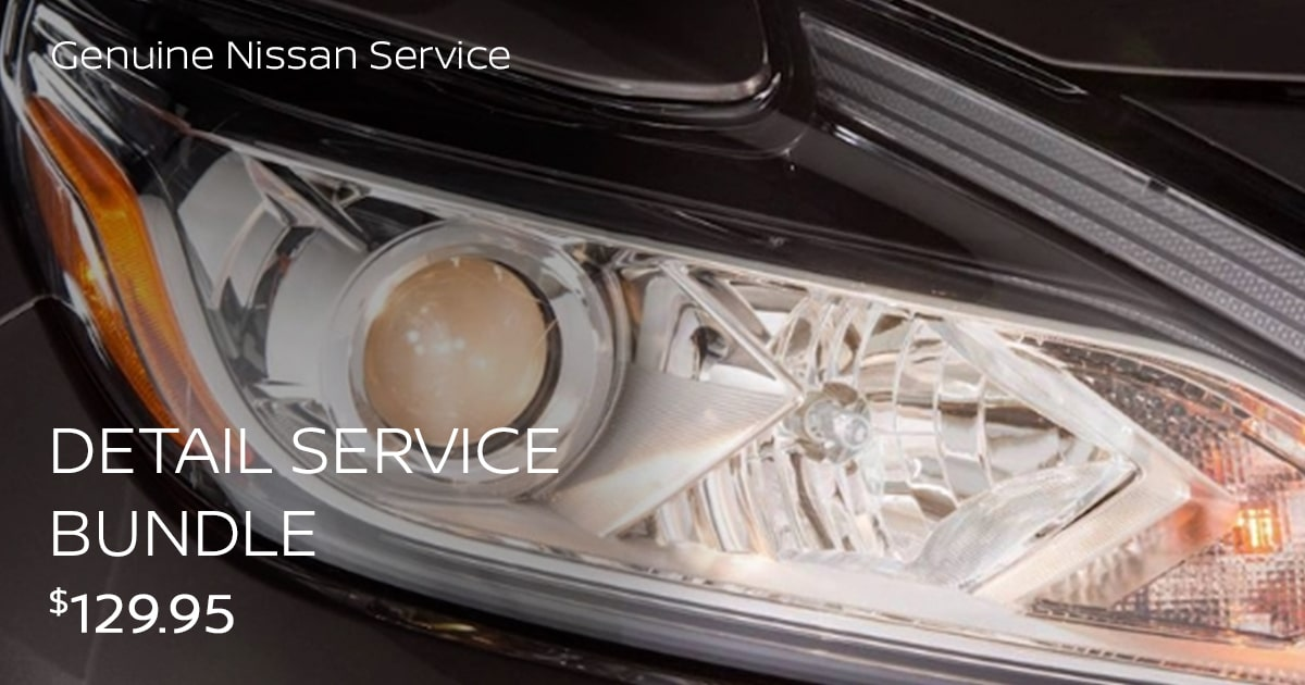 Nissan Detail Service Bundle Special Coupon