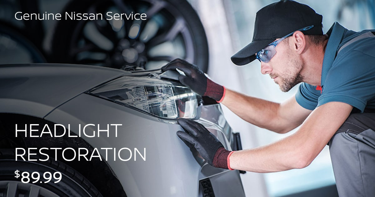 Nissan Headlight Restoration Service Special Coupon