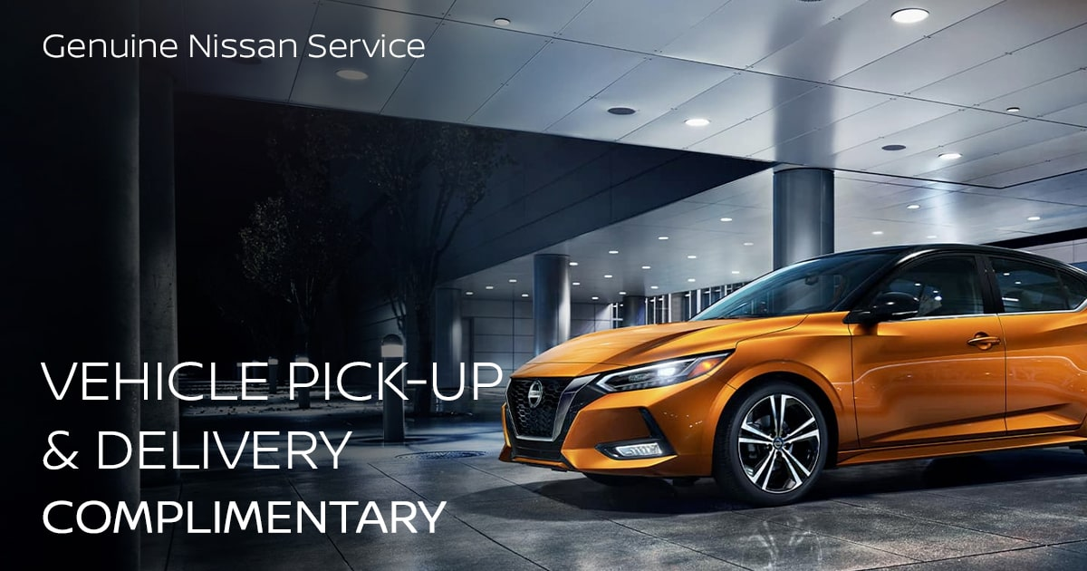Nissan Vehicle Pick-Up & Delivery Service Special Coupon