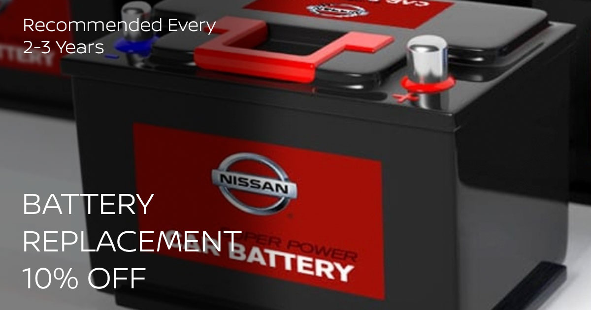 Nissan Battery Replacement Service Special Coupon
