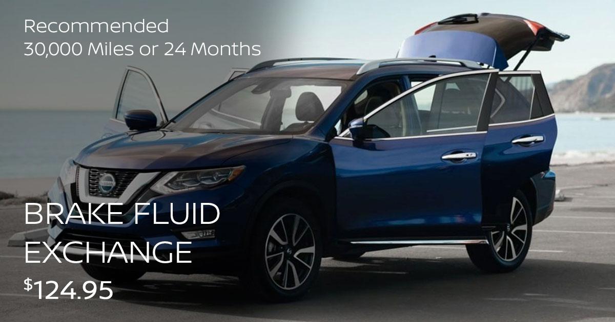 Nissan Brake Fluid Exchange Service Special Coupon