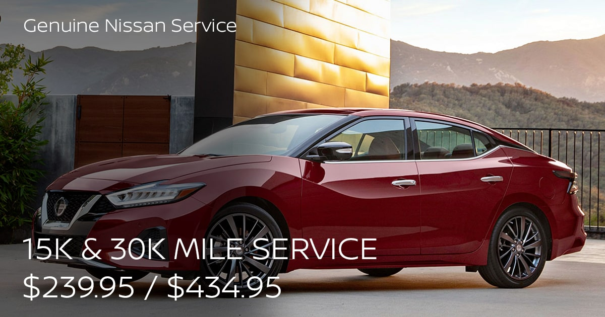 Nissan 15k-Mile Service Special Coupon