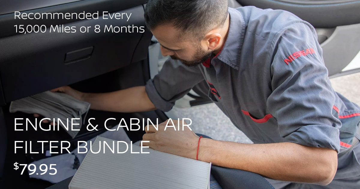 Nissan Engine & Cabin Air Filter Replacement Bundle Service Special Coupon