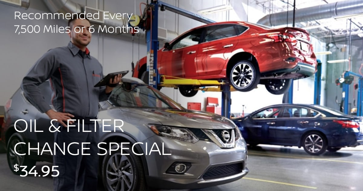 Nissan Oil & Filter Change Service Special Coupon