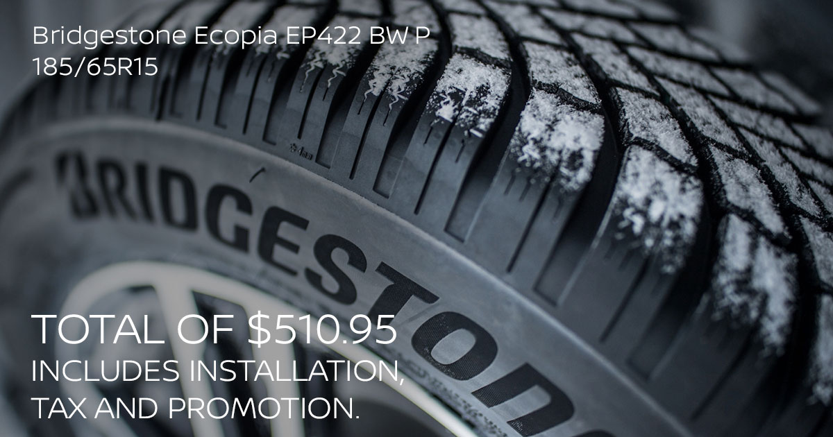 Nissan Bridgestone Ecopia EP422 BW P 185/65R15 Tire Special