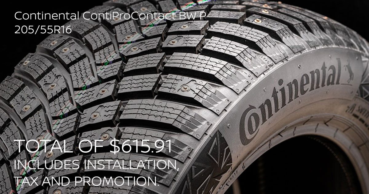 Nissan Continental ContiProContact BW P 205/55R16 Tire Special