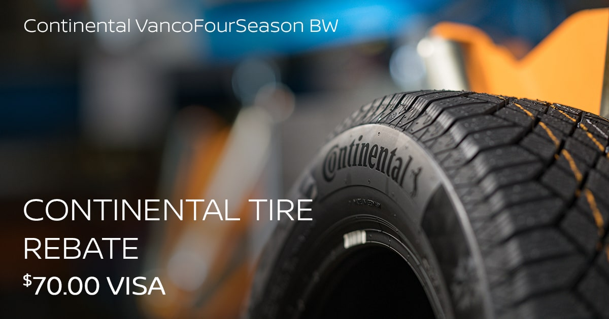 Nissan Continental VancoFourSeason BW Tire Special