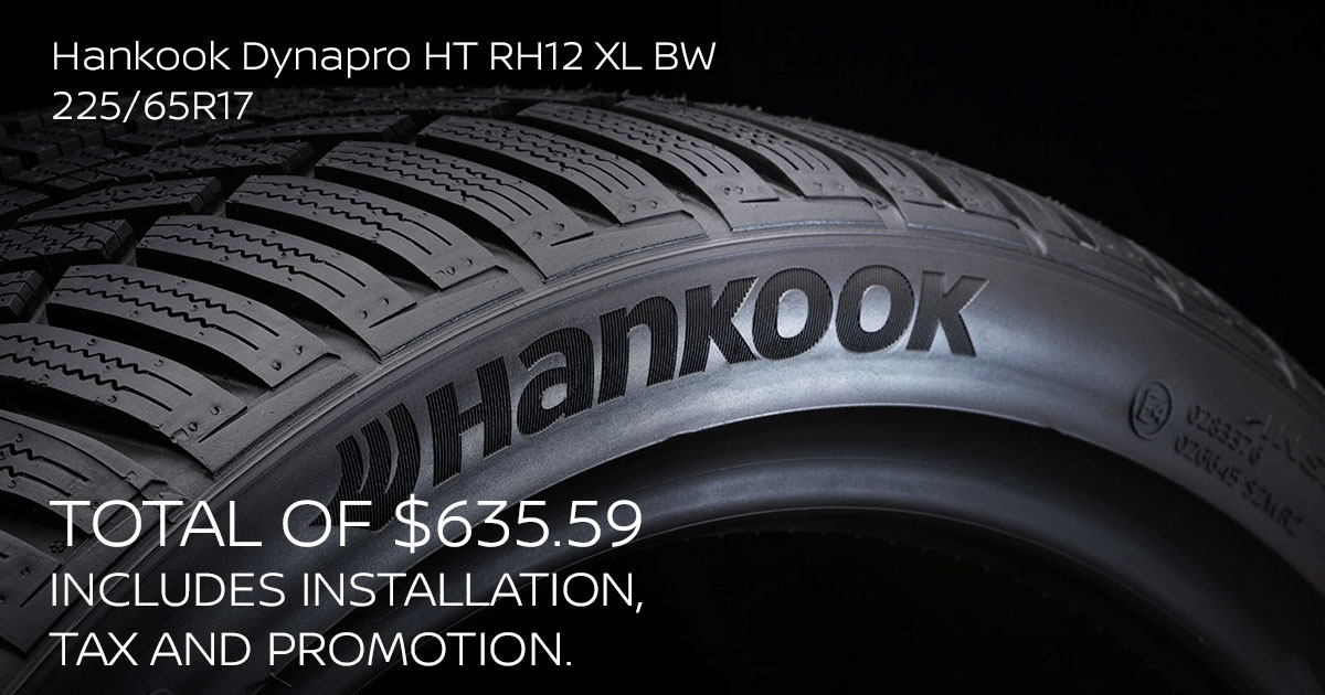 Nissan Hankook Dynapro HT RH12 XL BW Tire Special