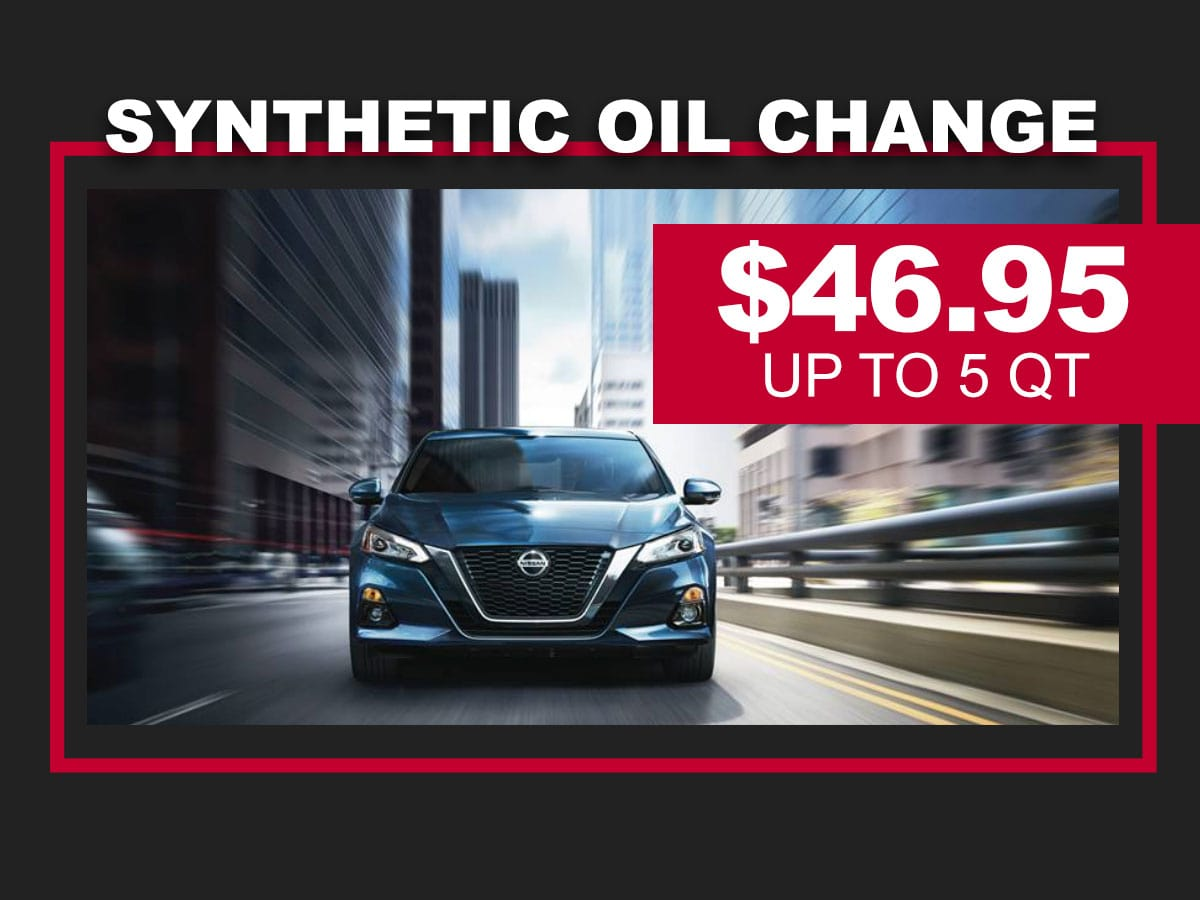 Nissan Synthetic Oil Change Coupon