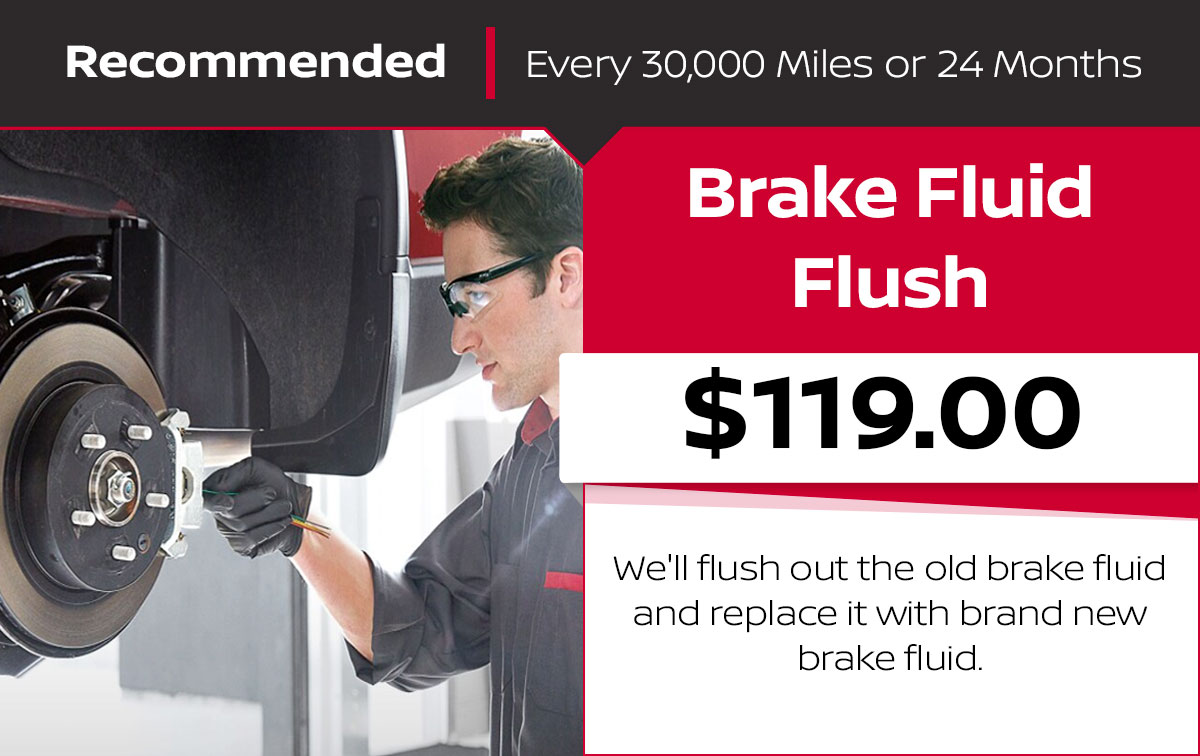 Nissan Brake Fluid Flush Service Special Coupon