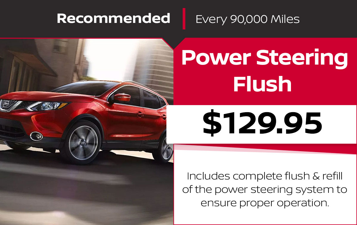 Nissan Power Steering Flush  Service Special Coupon