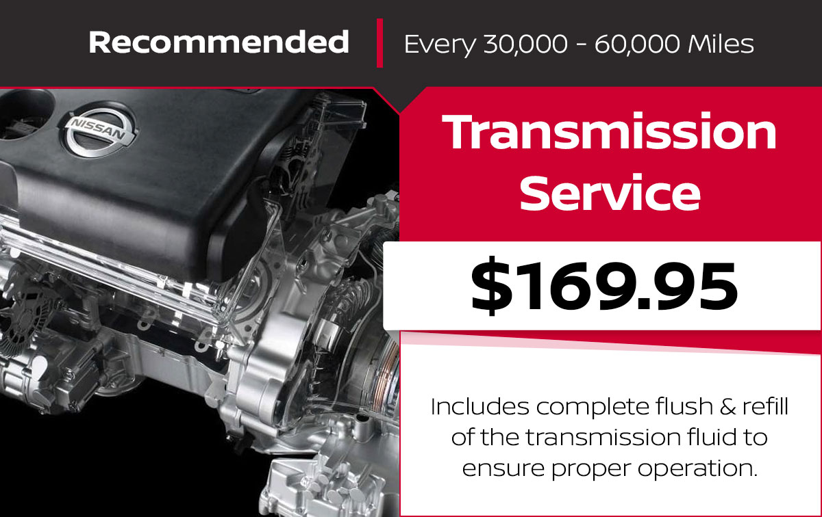 Nissan Transmission Fluid Exchange Service Special Coupon