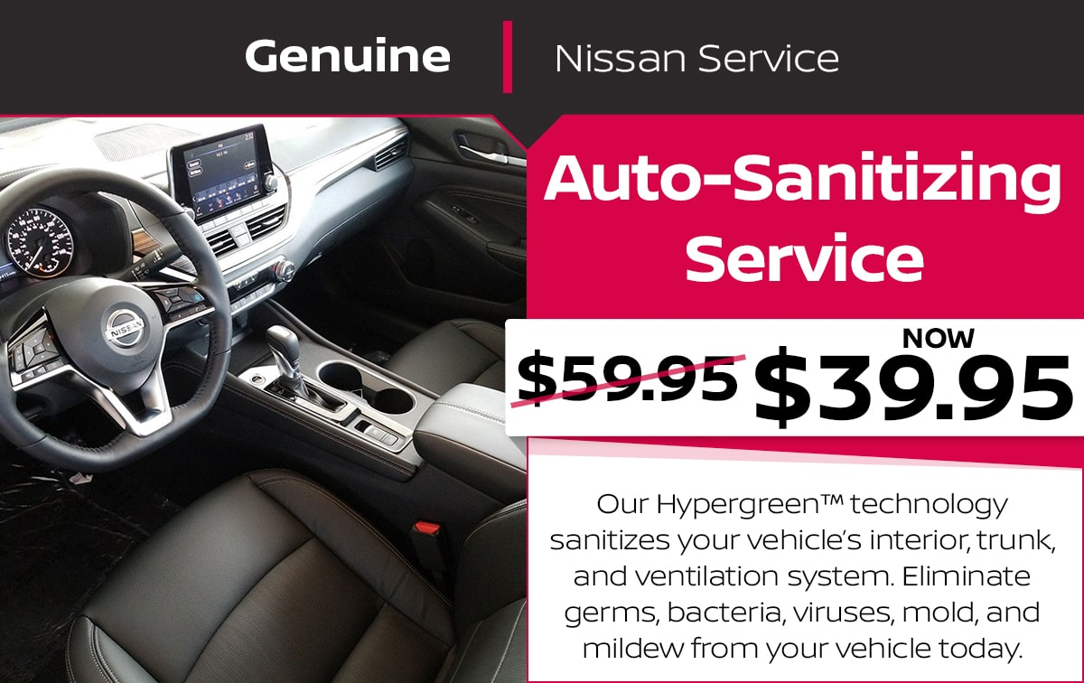 Nissan Auto-Sanitize Service Special Coupon