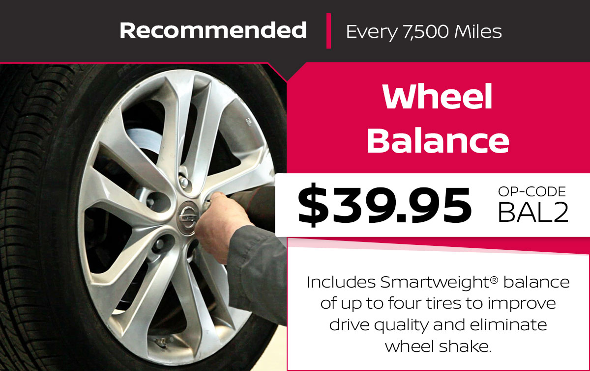 Nissan Wheel Balance Service Special Coupon
