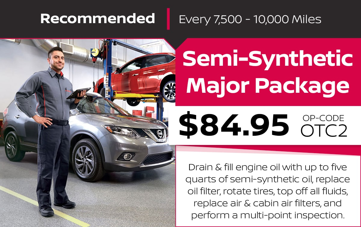 Nissan Semi-Synthetic Major Package Service Special Coupon