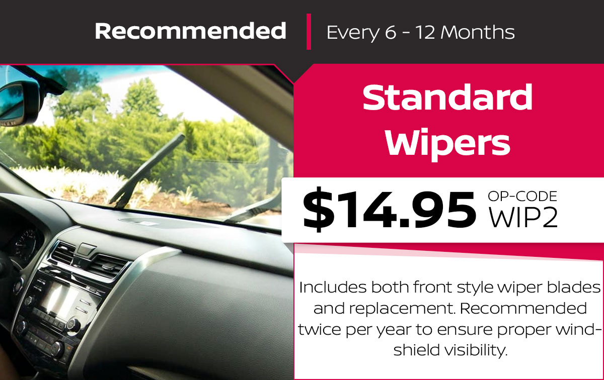 Nissan Standard Wipers Service Special Coupon