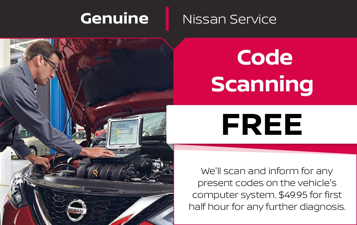 Nissan Code Scanning Service Special Coupon