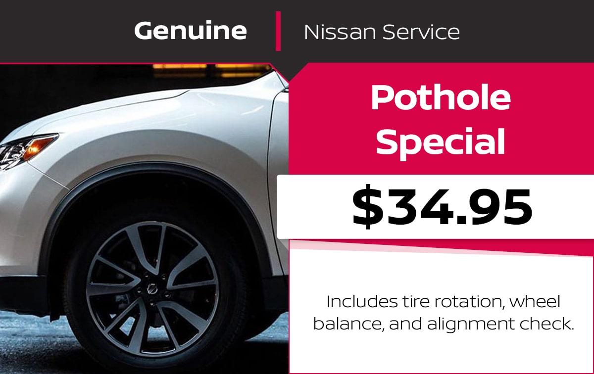 Nissan Pothole Service Special Coupon