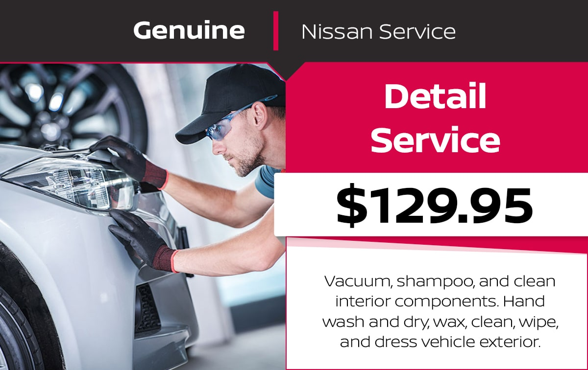 Nissan Detail Service Special Coupon