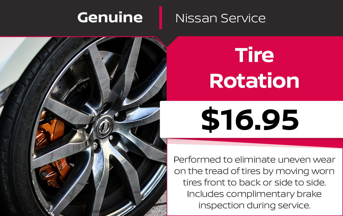 Nissan Tire Rotation Service Special Coupon