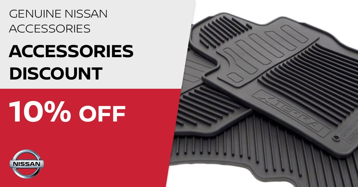Nissan Accessories Discount Service Special Coupon