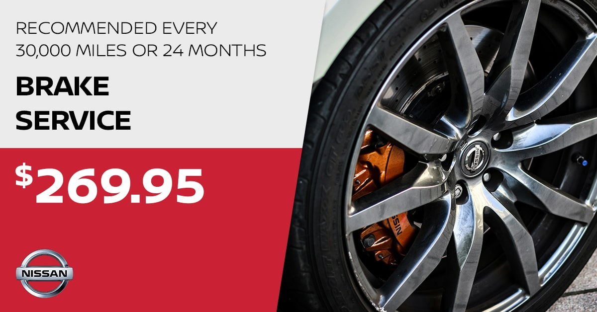 Nissan Brake Service Special Coupon