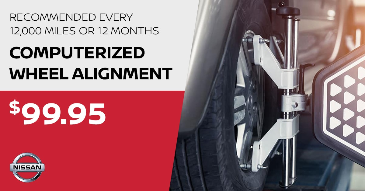 Nissan Computerized Wheel Alignment Service Special Coupon