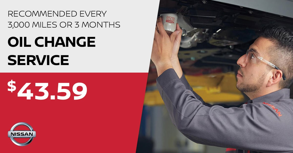 Nissan Oil Change Service Special Coupon