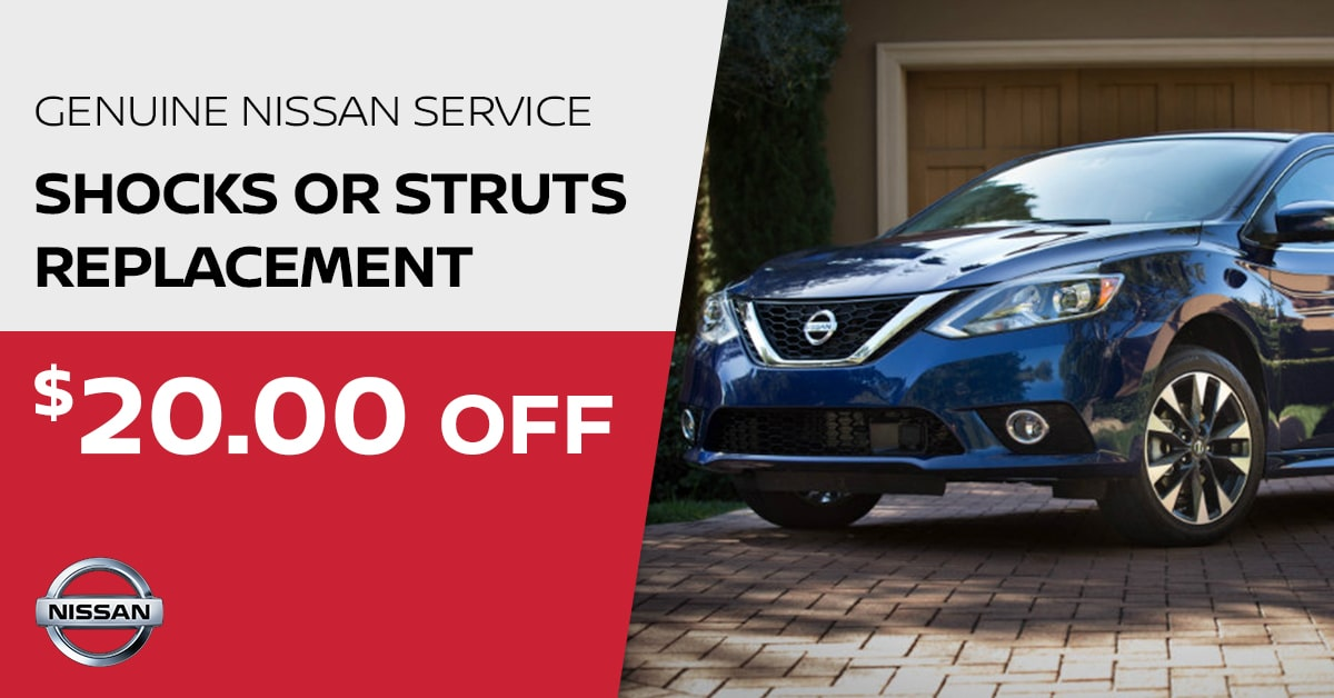 Nissan Shocks or Struts Replacement Service Special Coupon