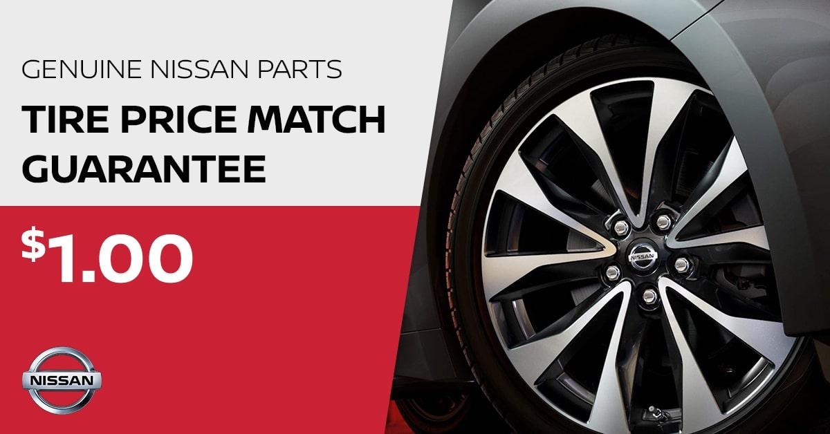 Nissan Tire Price Match Guarantee Special Coupon