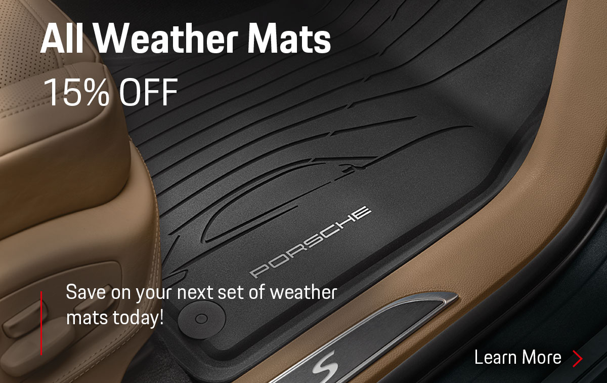Porsche All Weather Mat Special Coupon