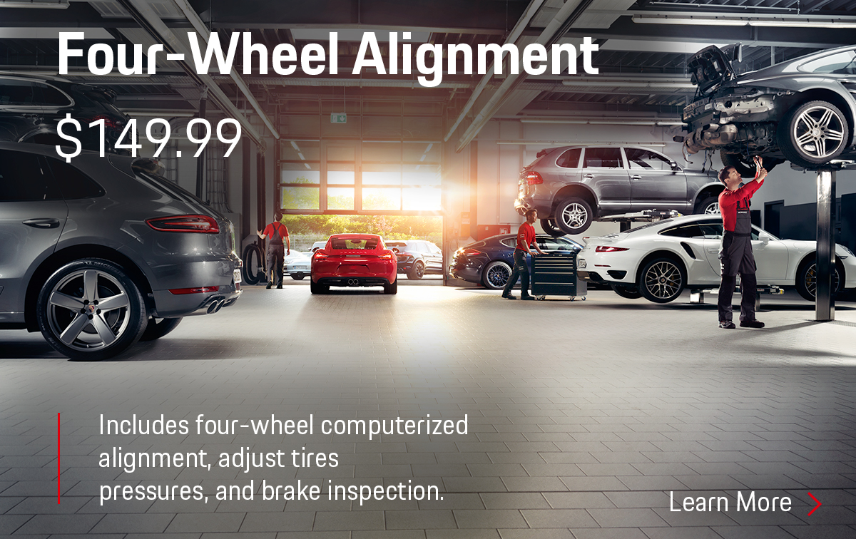 Porsche Four-Wheel Computerized Alignment Service Special Coupon