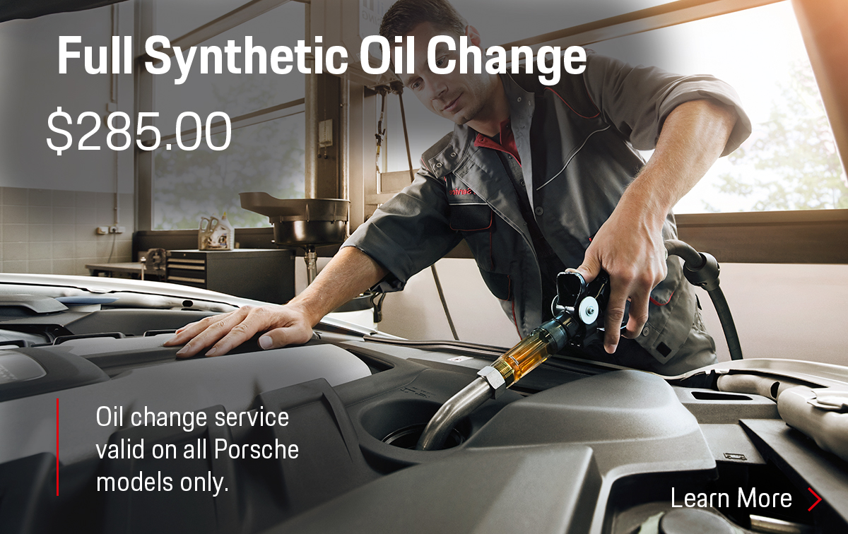 Porsche Full Synthetic Oil Change Service Special Coupon