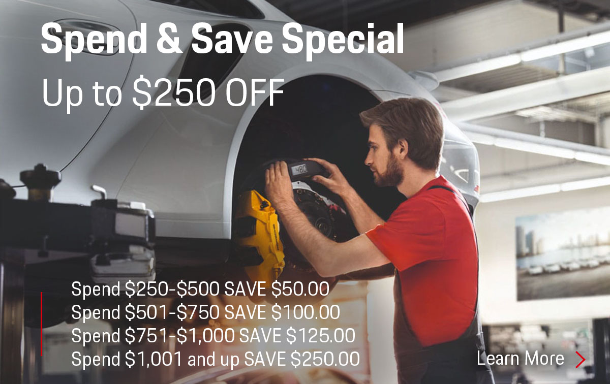 Porsche Spend & Save Special Coupon