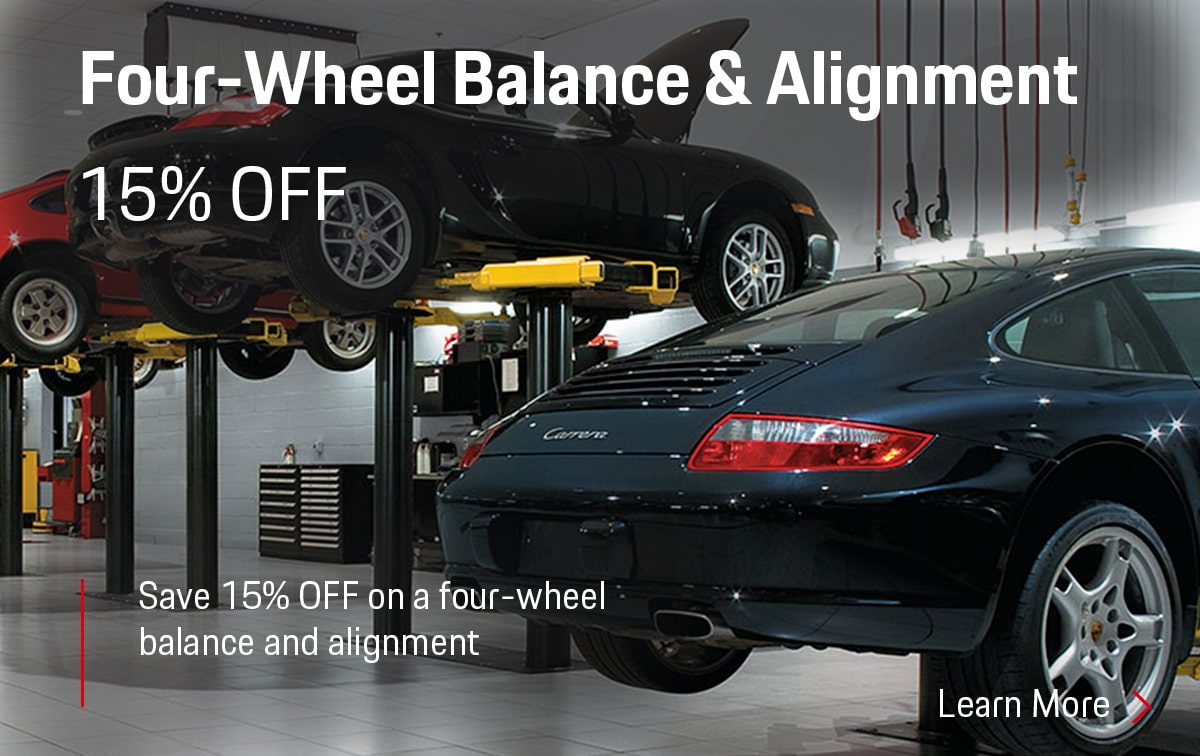 Porsche Four-Wheel Balance & Alignment Service Special Coupon