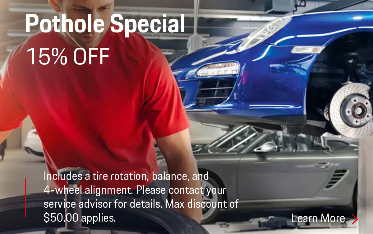 Porsche Pothole Special Coupon