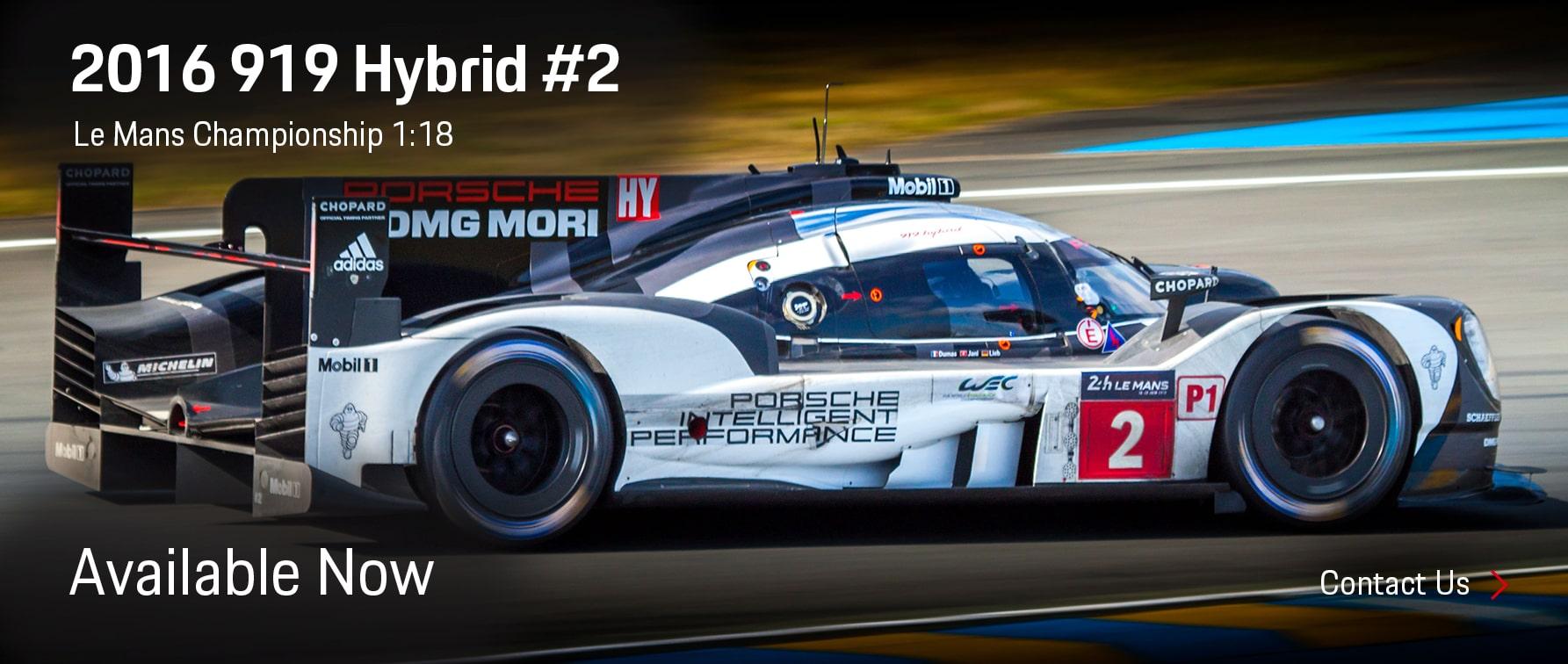 Porsche 2016 919 Hybrid #2 Le Mans Championship Model Available