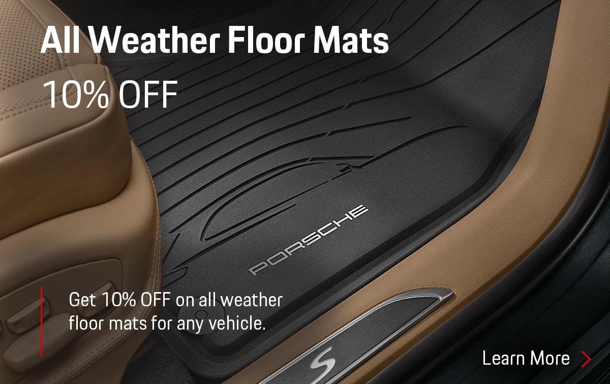 Porsche All Weather Floor Mats Parts Special Coupon