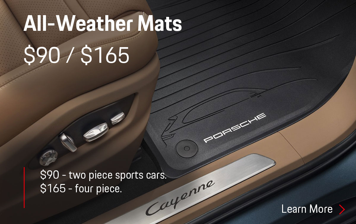 Porsche All Weather Floor Mats Parts Special Coupon