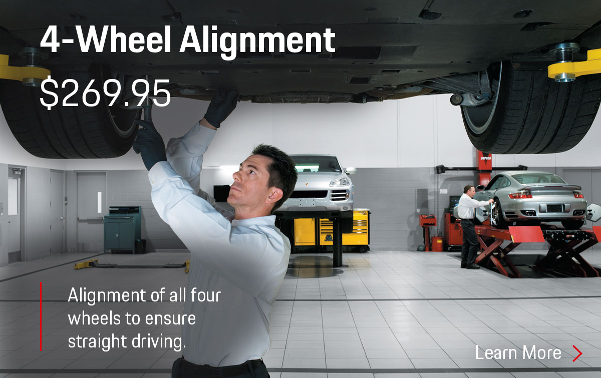 Porsche 4 Wheel Alignment Service Special Coupon