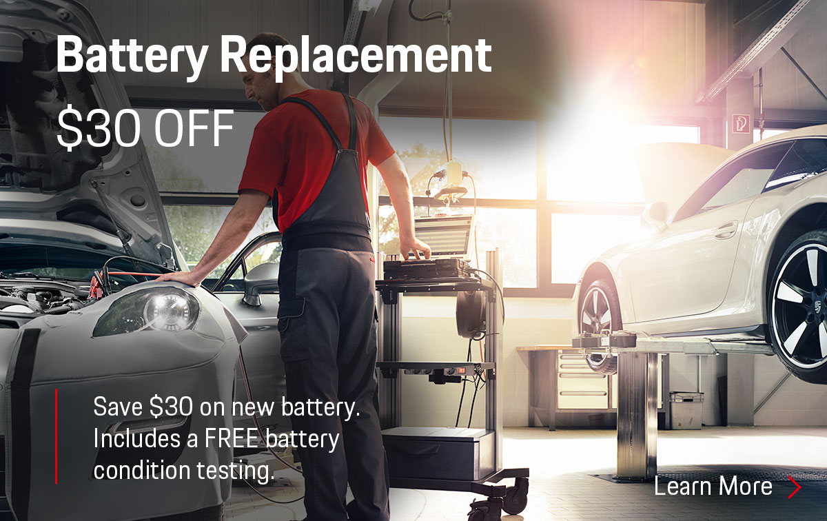 Porsche Battery Test Service Special Coupon