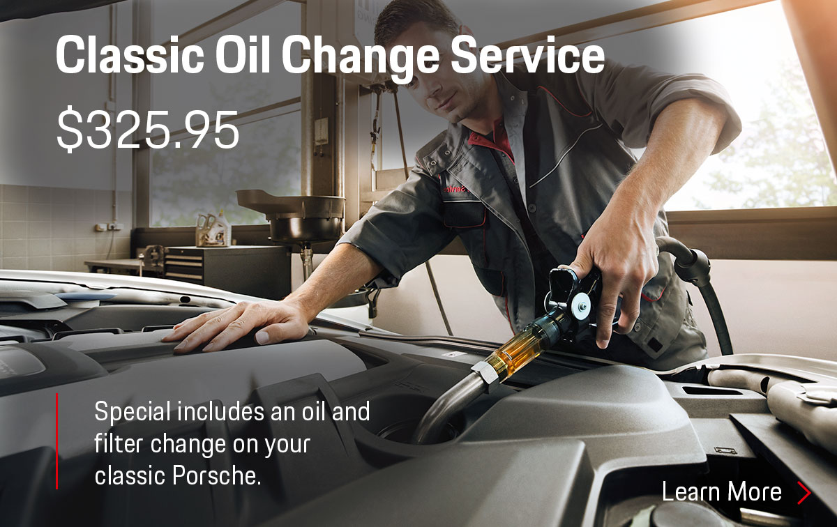 Porsche Classic Oil Change Service Special Coupon
