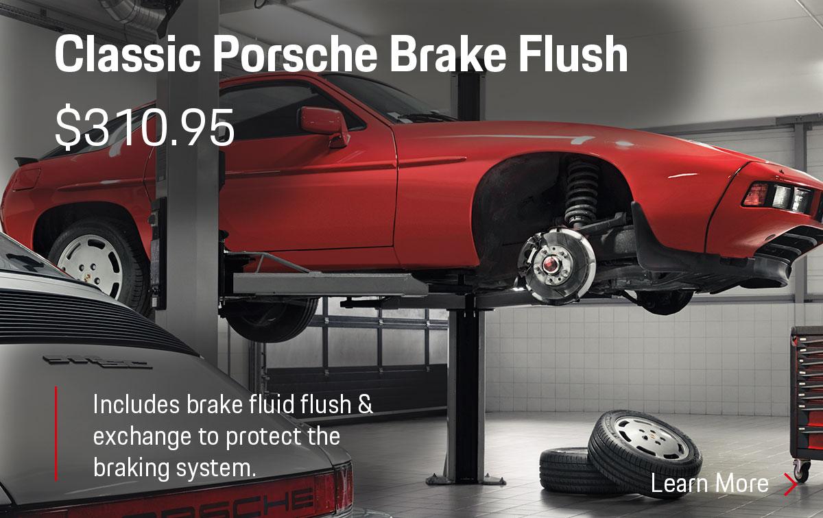 Porsche Classic Porsche Brake Flush Service Special Coupon
