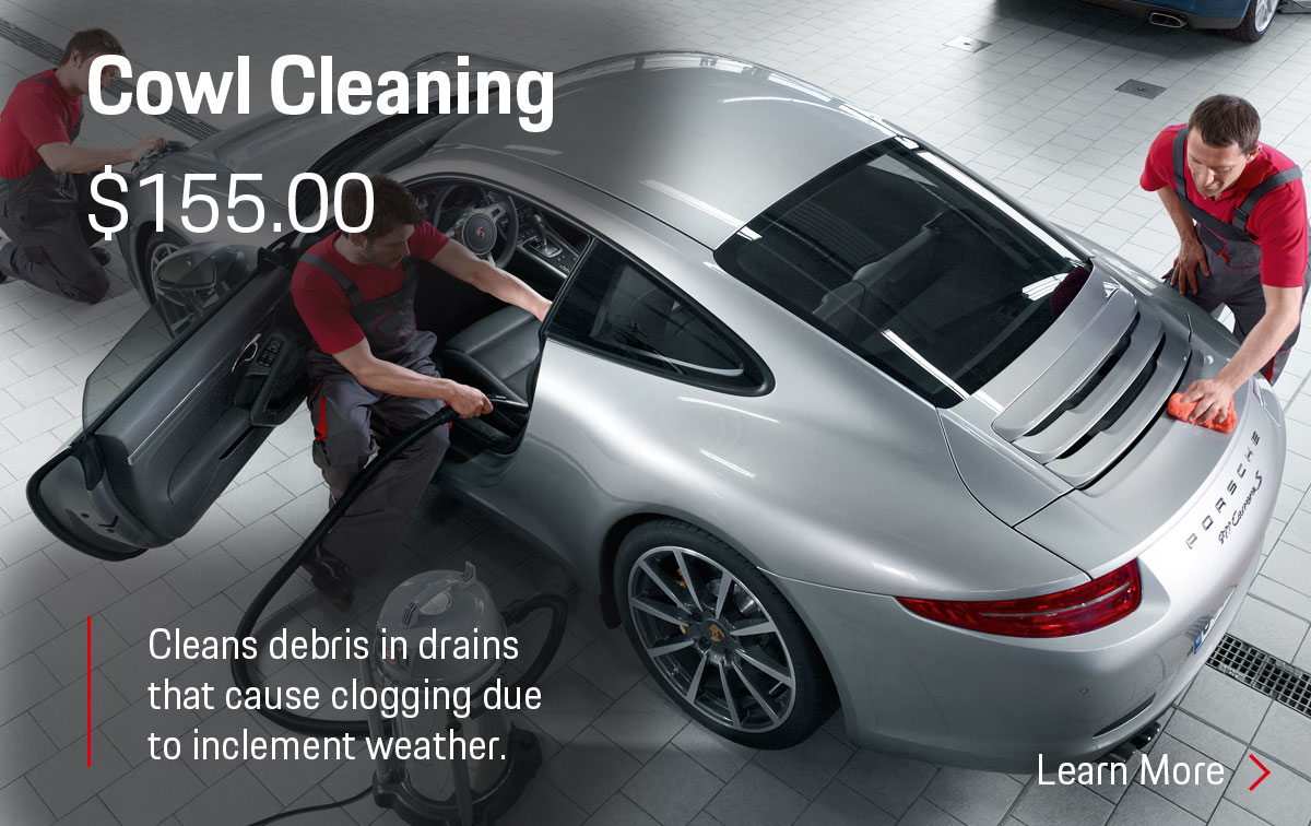 Porsche Cowl Cleaning Service Special Coupon